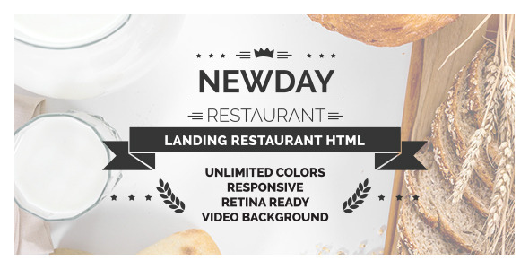New Day – Responsive Landing Restaurant HTML