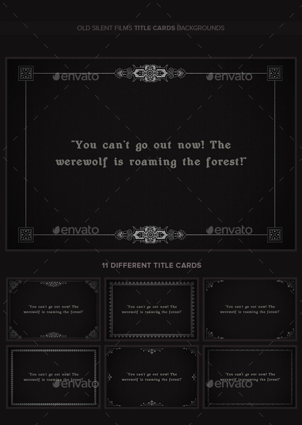 Old Silent Films Title Cards Backgrounds v2 - Miscellaneous Backgrounds