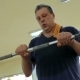 Man Exercising With Crossbar In The Gym - VideoHive Item for Sale