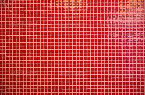 Red mosaic tiles - Stock Photo - Images