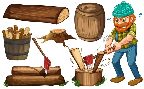 Lumber Jack - People Characters