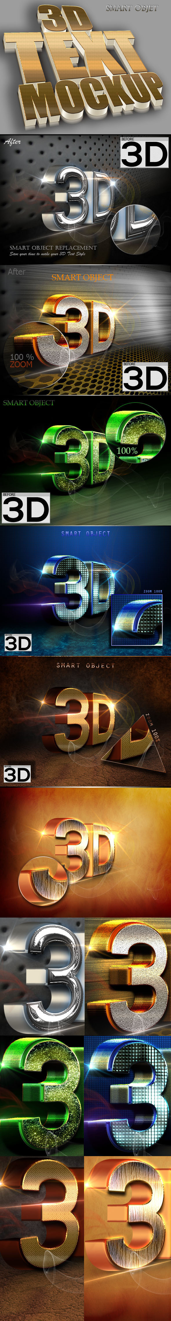 3D Text Style V.52 - Text Effects Styles