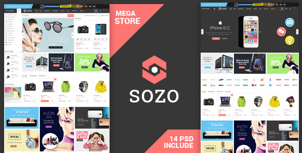 Sozo – Shopping PSD Template