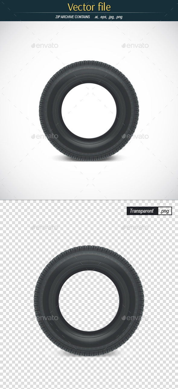 Car Tire Icon - Man-made Objects Objects