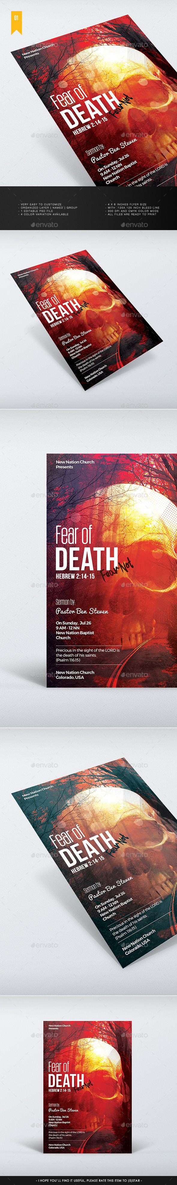 Fear Of Death - Church Flyer - Church Flyers