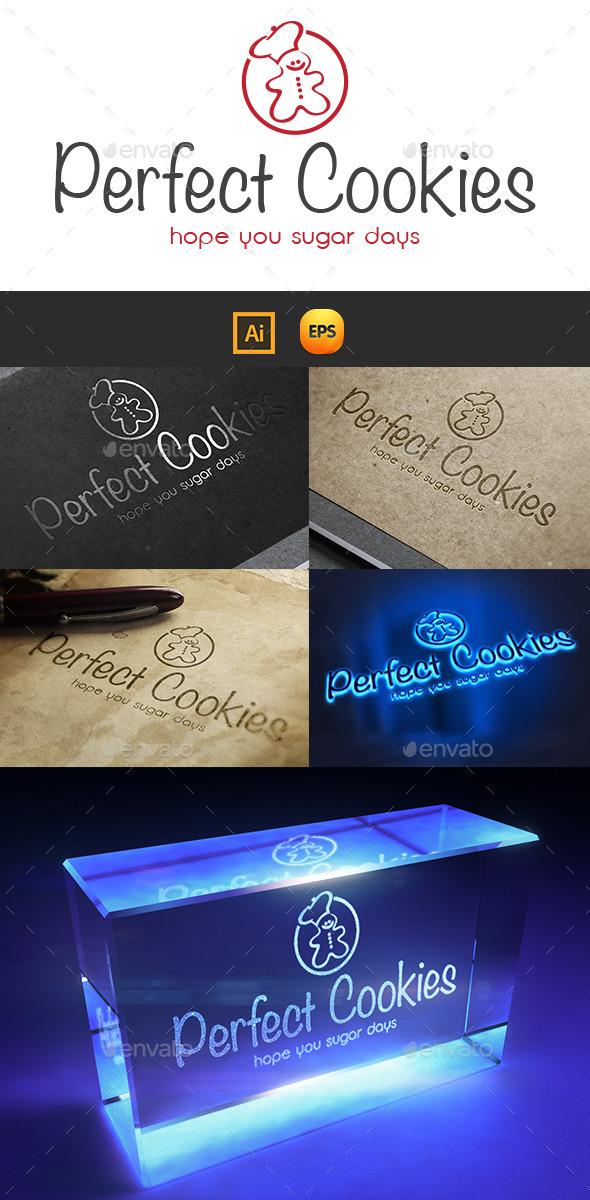 Perfect Cookies Logo - Food Logo Templates