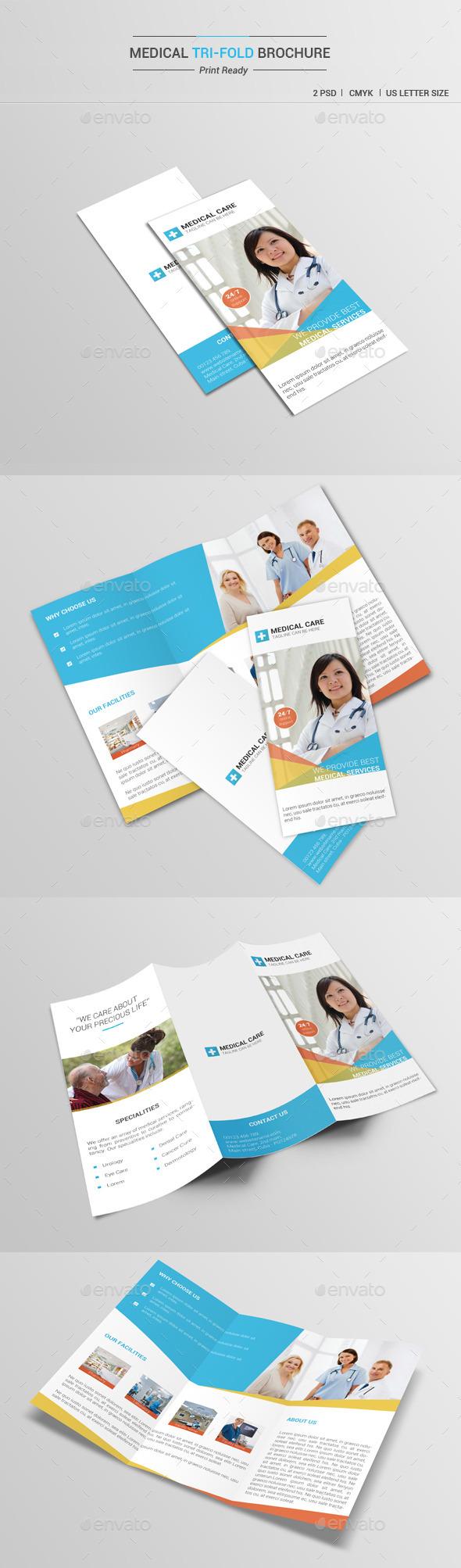 Medical Tri-Fold Brochure V1 - Brochures Print Templates