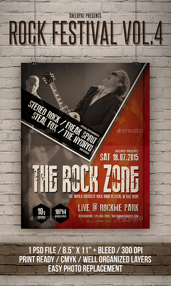 Rock Festival Flyer / Poster Vol 4 - Events Flyers
