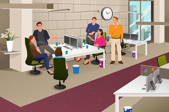 Informal Business Meeting - Business Conceptual