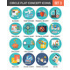 Circle Colorful Concept Icons. Flat Design. Set 3. - GraphicRiver Item for Sale