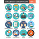 Circle Colorful Concept Icons. Flat Design. Set 5. - GraphicRiver Item for Sale