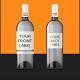 Bottle Mock Up White Wine - GraphicRiver Item for Sale