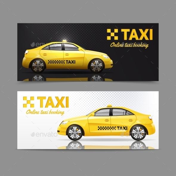 Taxi Banner Set - Miscellaneous Vectors