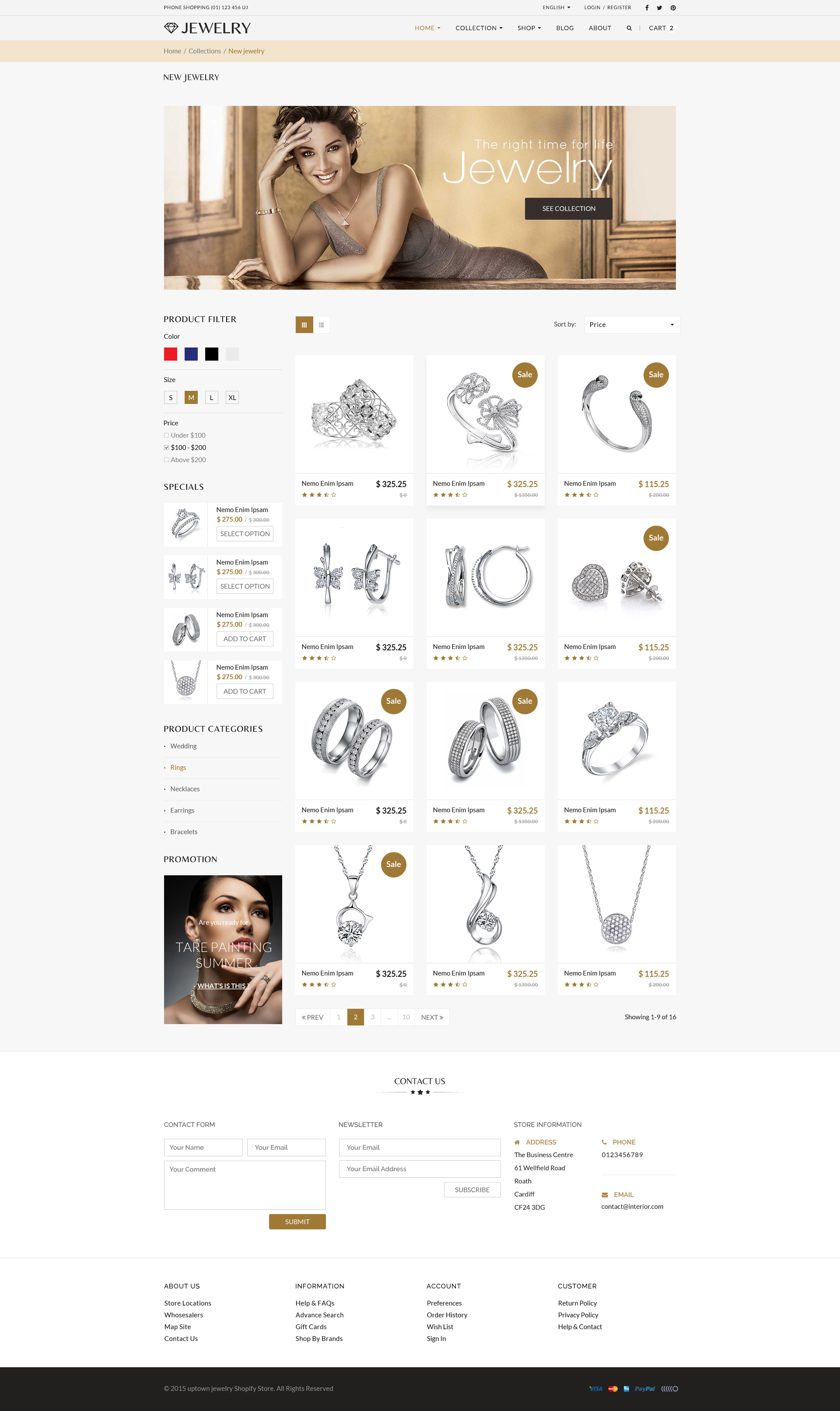 Jewelry Responsive Shopify Theme By Tvlgiao Themeforest