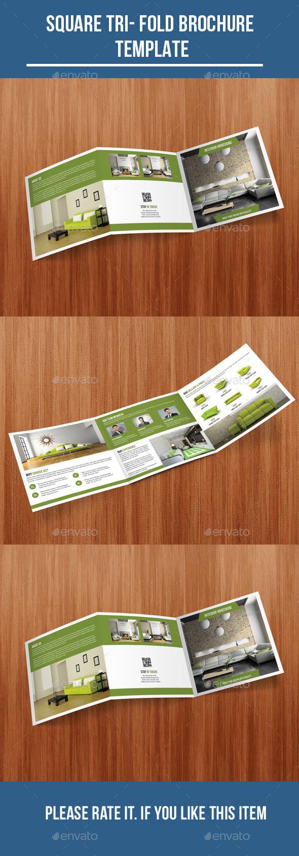 Square Tri- Fold Interior Brochure - Corporate Brochures
