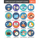 Circle Colorful Concept Icons. Flat Design. Set 6. - GraphicRiver Item for Sale
