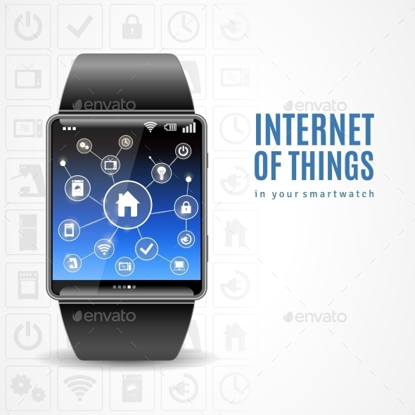 Smart Watch Internet Concept - Man-made Objects Objects