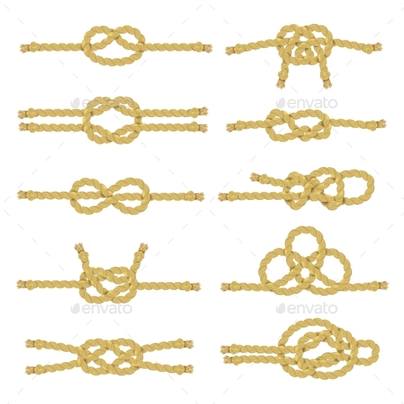 Rope Knot Decorative Icon Set - Abstract Conceptual