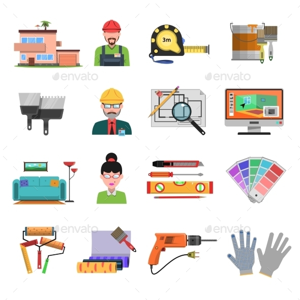 Interior Flat Icons - Miscellaneous Icons