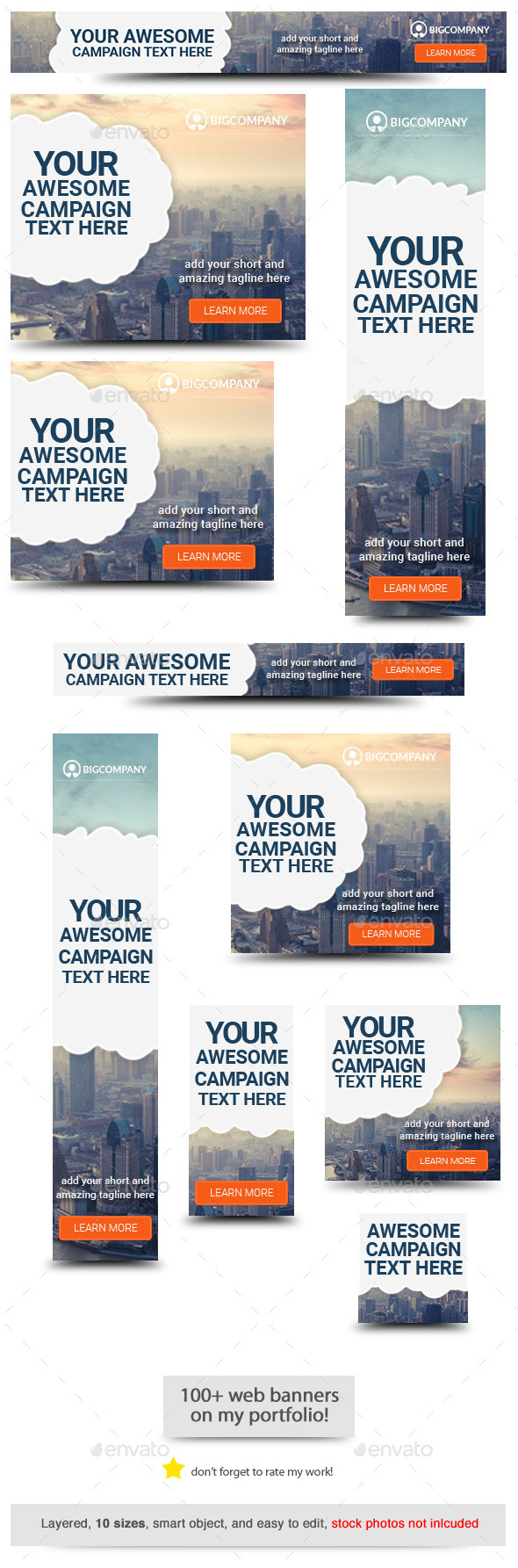 City Success Web Banner Template - Banners & Ads Web Elements