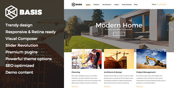 Basis – Construction Business WordPress Theme