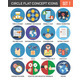 Circle Colorful Concept Icons. Flat Design. Set 7. - GraphicRiver Item for Sale