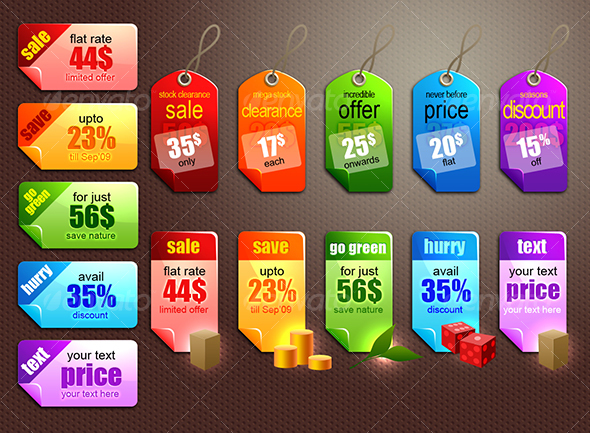 customizable scalable psd vector sales tag graphics