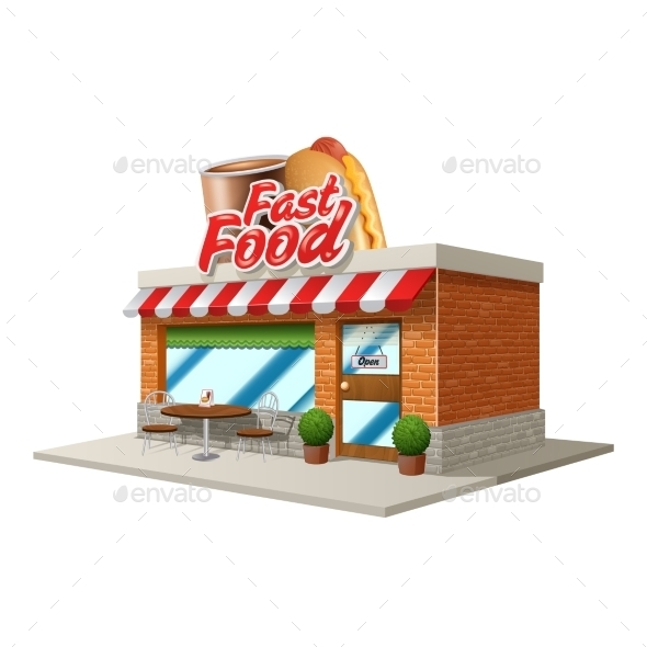 Fast Food Cafe - Buildings Objects