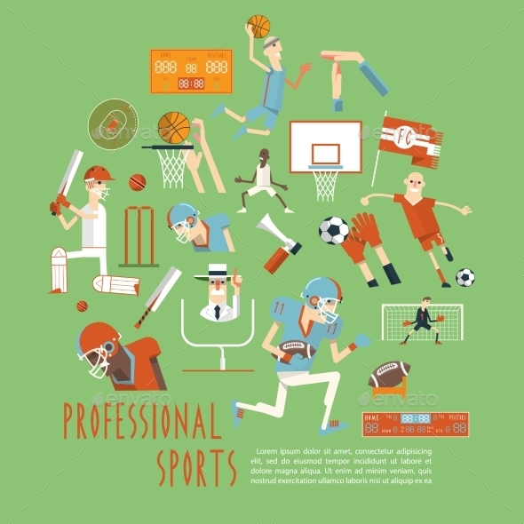Professional Competitive Team Sports Concept - Sports/Activity Conceptual