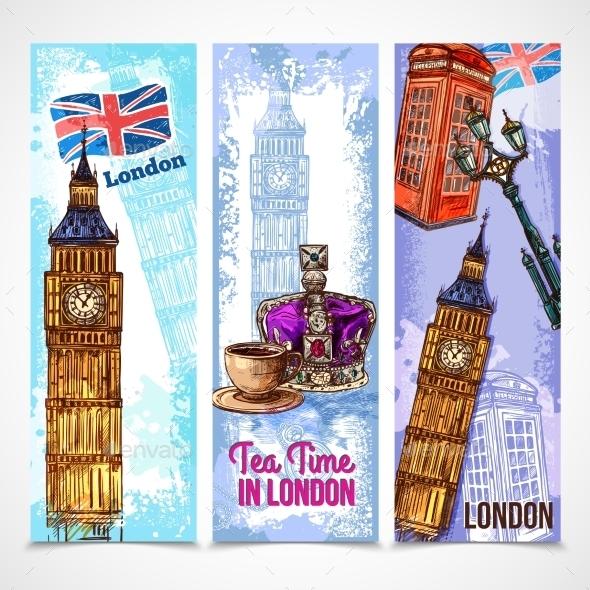 London Banner Set - Travel Conceptual