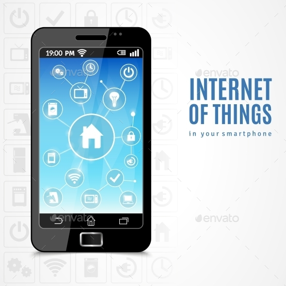 Internet Of Things Phone - Technology Conceptual