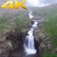 Aerial Flying Creek and Waterfall in Mountain - VideoHive Item for Sale