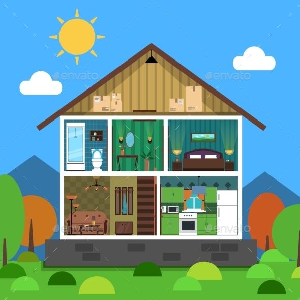 Interior House Illustration - Miscellaneous Vectors