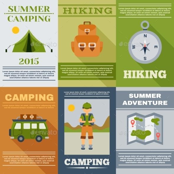Camping Poster Set - Nature Conceptual