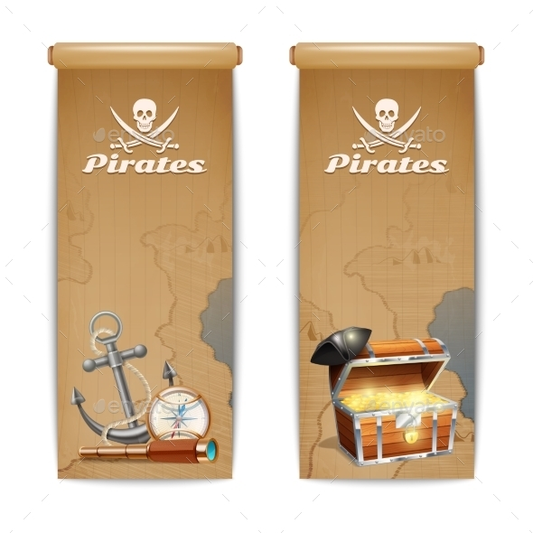 Pirate Banner Vertical - Miscellaneous Vectors