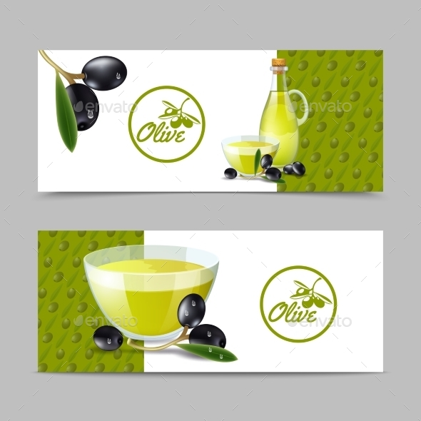 Olive Oil Banner Set - Food Objects