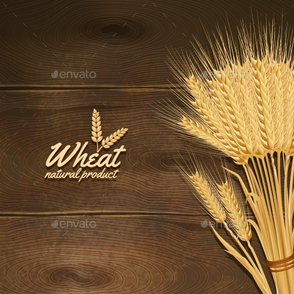Wheat On Wooden Table - Food Objects