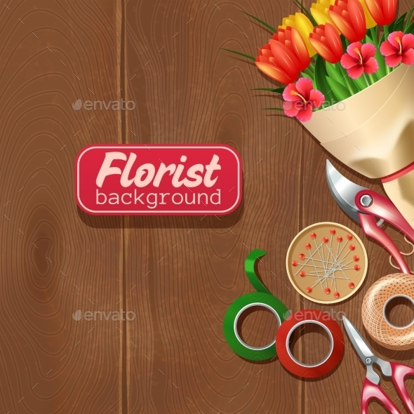 Florist Background Illustration - Backgrounds Decorative