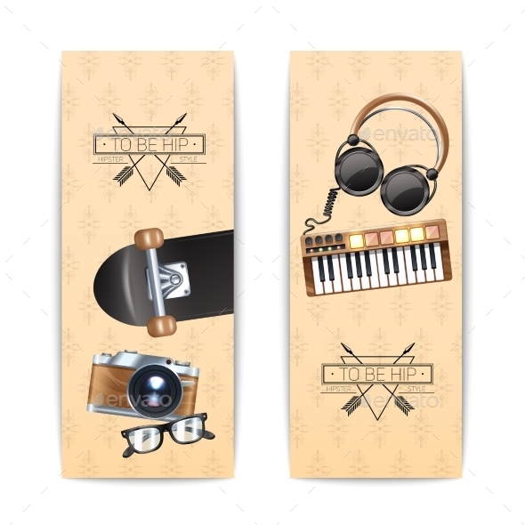Hipster Banner Set - Miscellaneous Vectors