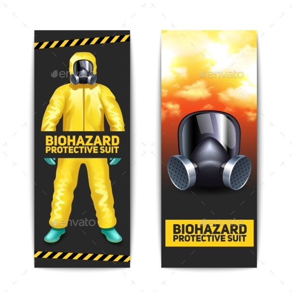 Biohazard Banners Set - Miscellaneous Vectors