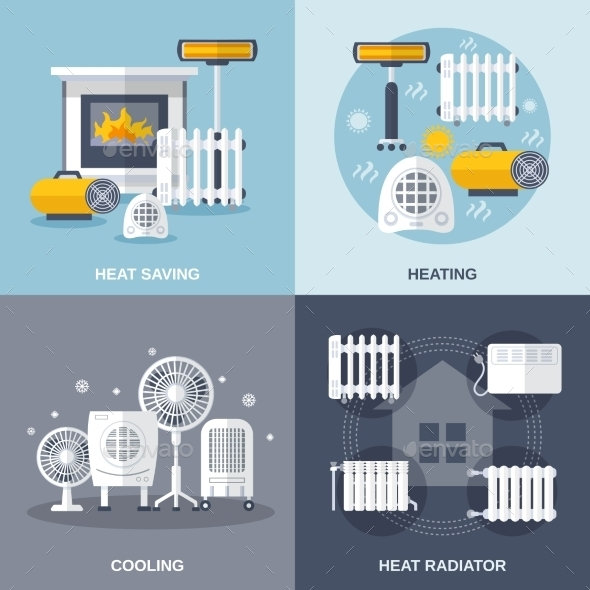 Heating And Cooling Flat - Technology Conceptual