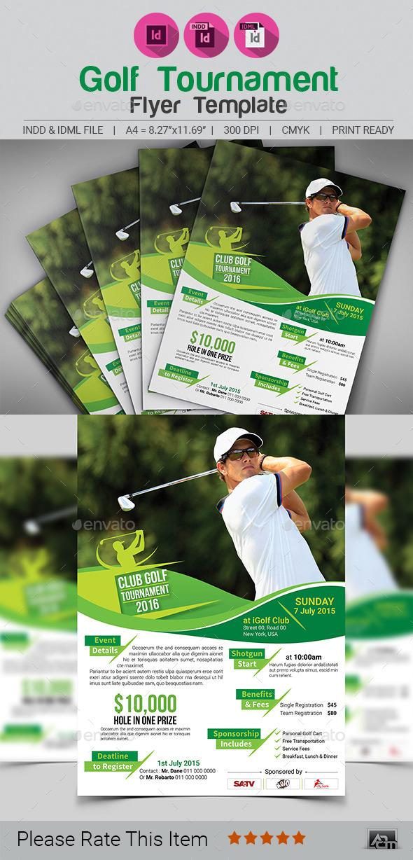 Golf Tournament Flyer Template V2 - Sports Events