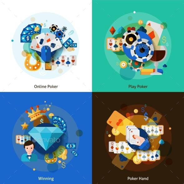 Poker Icons Set  - Business Conceptual