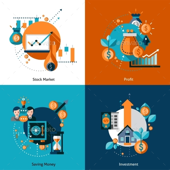 Investment Icons Set - Business Conceptual