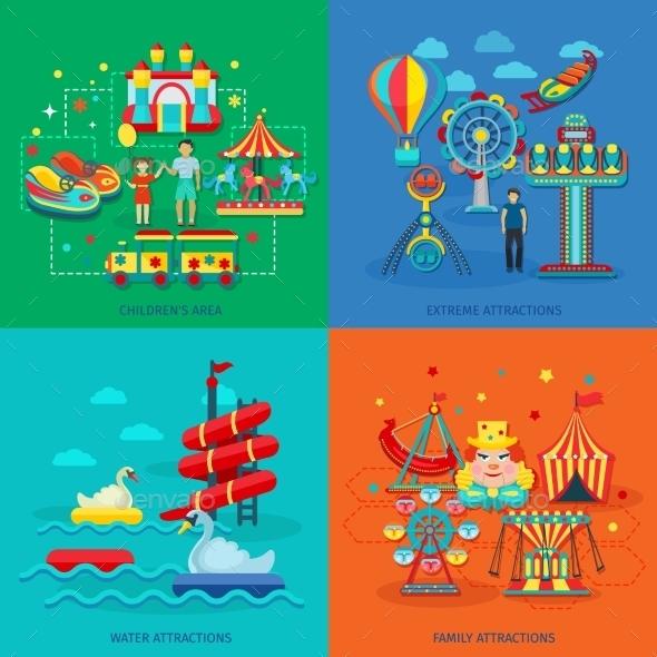 Amusement Park Flat - Miscellaneous Vectors