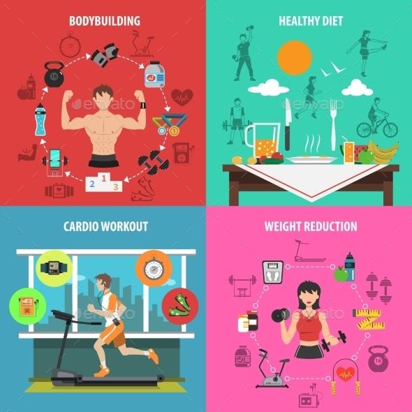 Gym Flat Set - Sports/Activity Conceptual