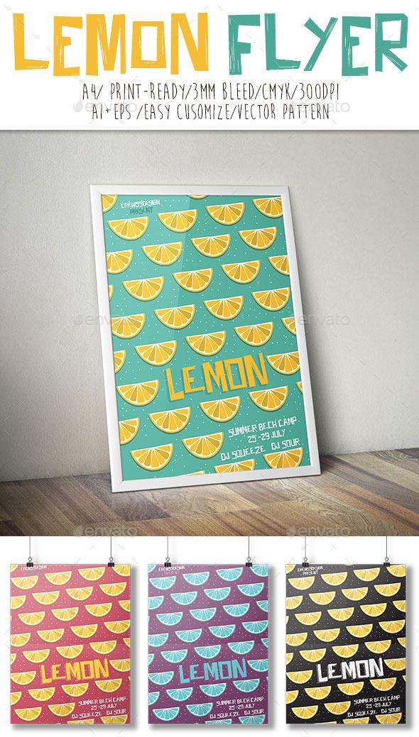 Lemon Flyer - Flyers Print Templates