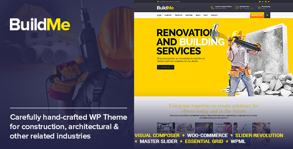 BuildMe - Construction & Architectural WP Theme