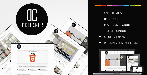 Dcleaner clean responsive corporate template - Corporate Site Templates