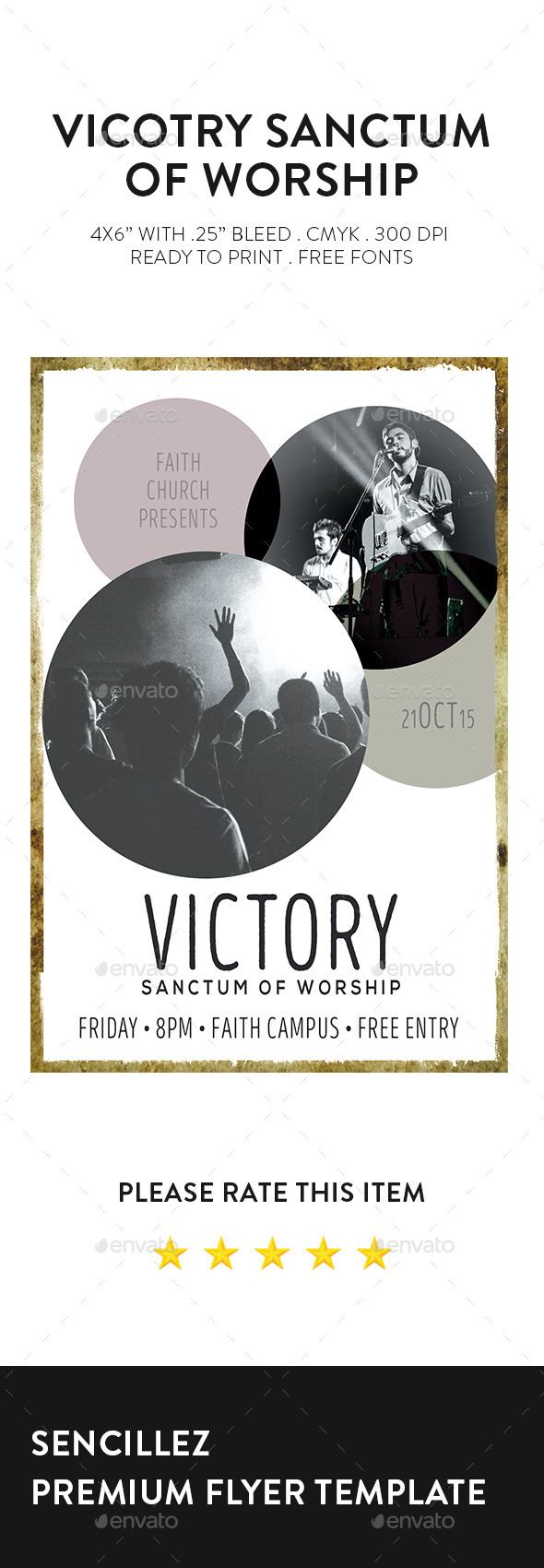 Victory Sanctum of Worship Church Flyer - Church Flyers